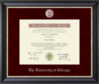 University of Chicago Diploma Frame - Regal Edition Diploma Frame in Noir