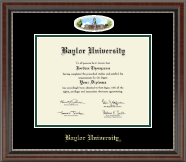 Baylor University Diploma Frame - Campus Cameo Diploma Frame in Chateau