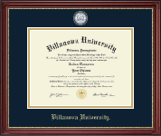 Villanova University Diploma Frame - Masterpiece Medallion Diploma Frame in Kensington Gold
