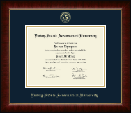 Embry-Riddle Aeronautical University Diploma Frame - Gold Embossed Diploma Frame in Murano