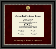 University of Louisiana Monroe Diploma Frame - Gold Engraved Medallion Diploma Frame in Noir