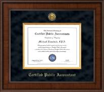 CPA Directory Inc. Certificate Frame - Presidential Gold Engraved Certificate Frame in Madison