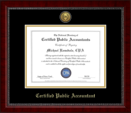 CPA Directory Inc. Certificate Frame - Gold Engraved Medallion Certificate Frame in Sutton