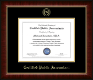 CPA Directory Inc. Certificate Frame - Gold Embossed Certificate Frame in Murano