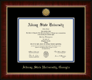 Albany State University in Georgia Diploma Frame - Gold Engraved Medallion Diploma Frame in Murano