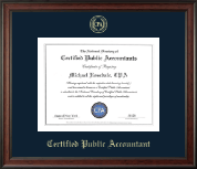 CPA Directory Inc. Certificate Frame - Gold Embossed Certificate Frame in Studio