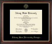 Albany State University in Georgia Diploma Frame - Gold Embossed Diploma Frame in Studio Gold