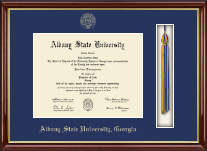 Albany State University in Georgia Diploma Frame - Tassel Edition Diploma Frame in Southport Gold