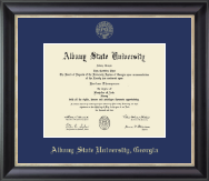 Albany State University in Georgia Diploma Frame - Gold Embossed Diploma Frame in Noir