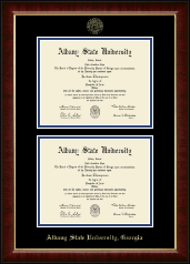 Albany State University in Georgia Diploma Frame - Double Diploma Frame in Murano