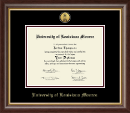 University of Louisiana Monroe Diploma Frame - Gold Engraved Medallion Diploma Frame in Hampshire