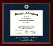 University of Connecticut Diploma Frame - Silver Engraved Medallion Diploma Frame in Sutton