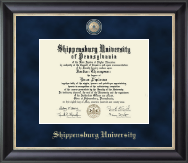 Shippensburg University Diploma Frame - Regal Edition Diploma Frame in Noir