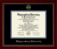 Shippensburg University Diploma Frame - Gold Embossed Diploma Frame in Sutton