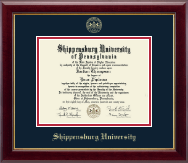 Shippensburg University Diploma Frame - Gold Embossed Diploma Frame in Gallery