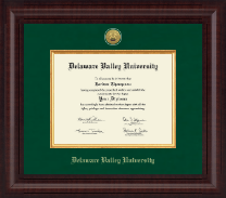 Delaware Valley University Diploma Frame - Presidential Gold Engraved Diploma Frame in Premier