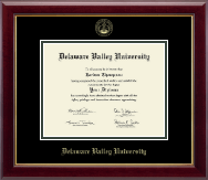 Delaware Valley University Diploma Frame - Gold Embossed Diploma Frame in Gallery