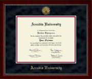 Arcadia University Diploma Frame - Gold Engraved Medallion Diploma Frame in Sutton