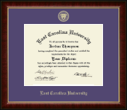 East Carolina University Diploma Frame - Gold Embossed Diploma Frame in Murano