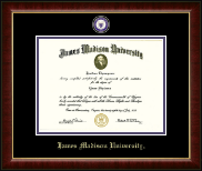 James Madison University Diploma Frame - Masterpiece Medallion Diploma Frame in Murano