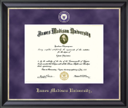 James Madison University Diploma Frame - Regal Edition Diploma Frame in Noir