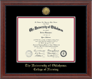 The University of Oklahoma Diploma Frame - Gold Engraved Medallion Diploma Frame in Signature