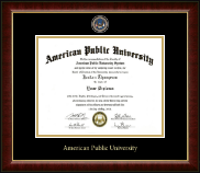 American Public University Diploma Frame - Masterpiece Medallion Diploma Frame in Murano