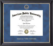 American Public University Diploma Frame - Regal Edition Diploma Frame in Noir