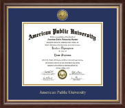 American Public University Diploma Frame - Gold Engraved Medallion Diploma Frame in Hampshire