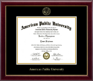 American Public University Diploma Frame - Gold Embossed Diploma Frame in Gallery