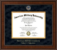 American Military University Diploma Frame - Presidential Masterpiece Diploma Frame in Madison