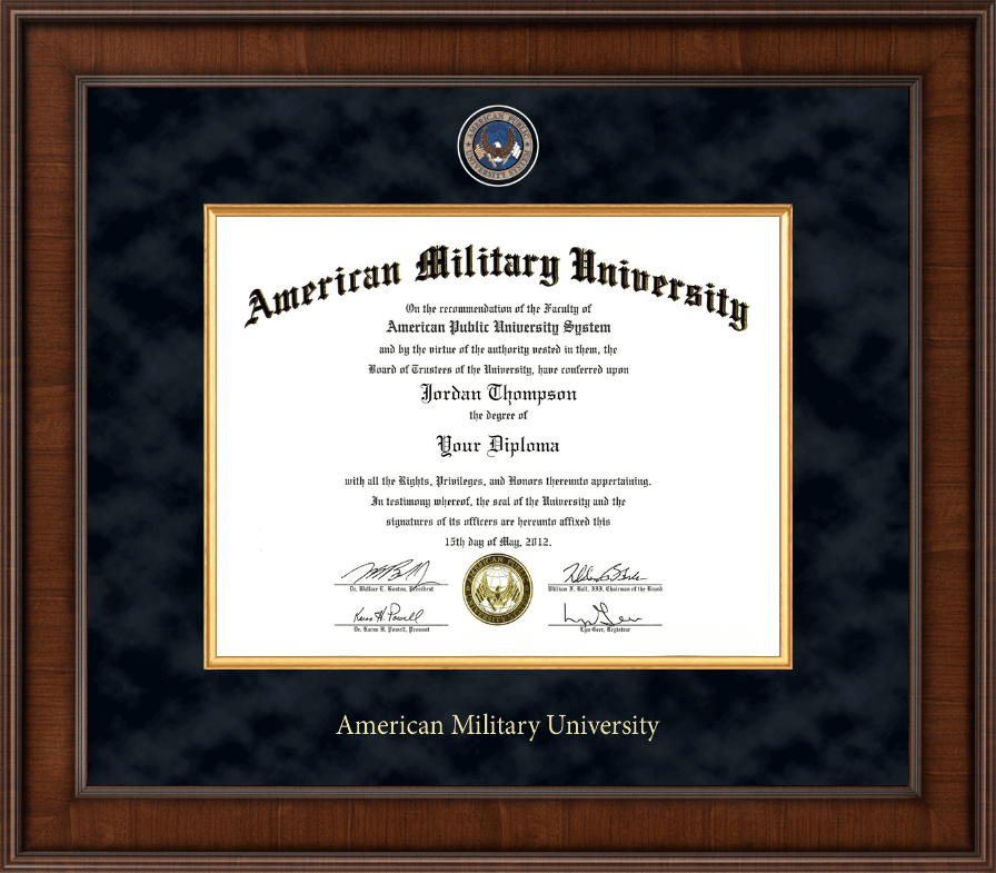 american military university diploma frame presidential masterpiece diploma frame in madison
