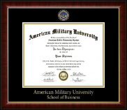 American Military University Diploma Frame - Masterpiece Medallion Diploma Frame in Murano