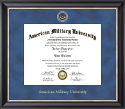 American Military University Diploma Frame - Regal Edition Diploma Frame in Noir