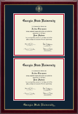Georgia State University Diploma Frame - Double Diploma Frame in Gallery
