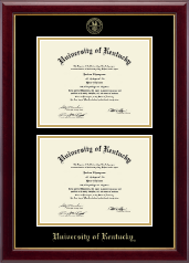 University of Kentucky Diploma Frame - Double Diploma Frame in Gallery