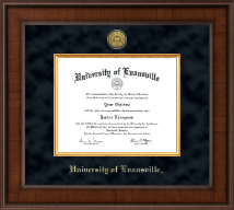 University of Evansville Diploma Frame - Presidential Gold Engraved Diploma Frame in Madison