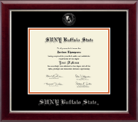 Buffalo State College Diploma Frame - Silver Embossed Diploma Frame in Gallery Silver