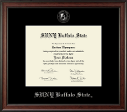 Buffalo State College Diploma Frame - Silver Embossed Diploma Frame in Studio