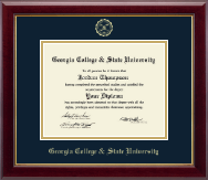 Georgia College & State University Diploma Frame - Gold Embossed Diploma Frame in Gallery