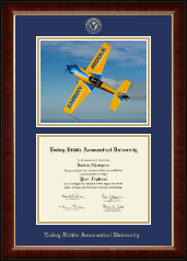 Embry-Riddle Aeronautical University Diploma Frame - Campus Scene Edition Diploma Frame in Murano