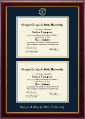 Georgia College & State University Diploma Frame - Double Diploma Frame in Gallery