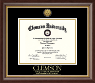 Clemson University Diploma Frame - Gold Engraved Medallion Diploma Frame in Prescott