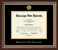 Mississippi State University Diploma Frame - Gold Engraved Medallion Diploma Frame in Hampshire