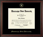 Mississippi State University Diploma Frame - Gold Embossed Diploma Frame in Studio
