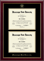Mississippi State University Diploma Frame - Double Diploma Frame in Gallery