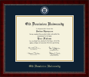 Old Dominion University Diploma Frame - Masterpiece Medallion Diploma Frame in Sutton
