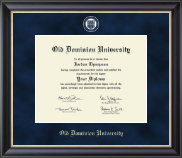 Old Dominion University Diploma Frame - Regal Edition Diploma Frame in Noir