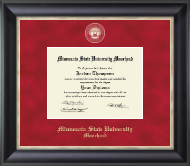 Minnesota State University Moorhead Diploma Frame - Regal Edition Diploma Frame in Noir