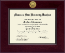 Minnesota State University Moorhead Diploma Frame - Century Gold Engraved Diploma Frame in Cordova